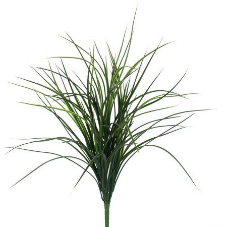 Foliage Collection 19 inch Slim Grass Bush, 24-Pack, Green