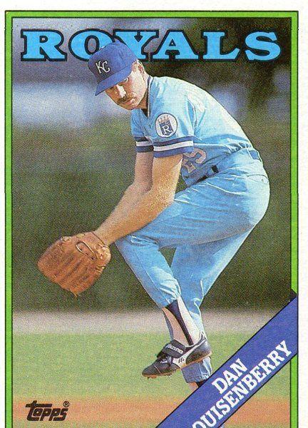 1988 Topps Bb Card Royals Dan Quisenberry Kc Royals Kansas City Royals Baseball Cards