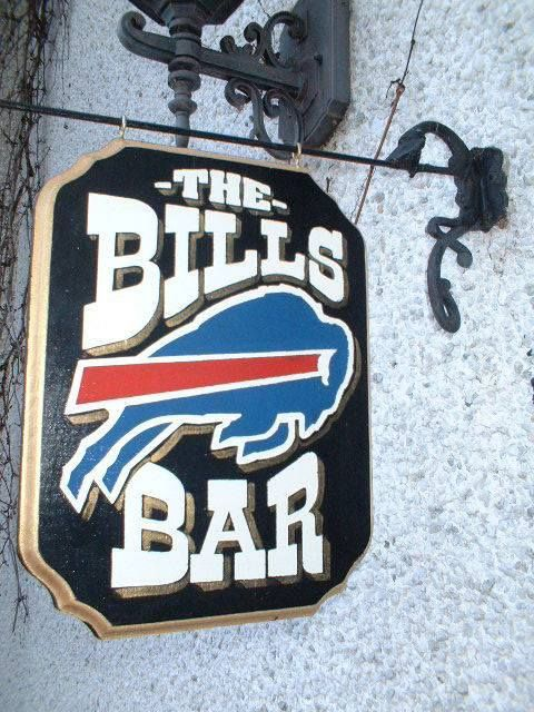05d747d0 THE BUFFALO BILLS WOODEN PUB , HOUSE OR CLUB SIGN | Buffalo Bills ...