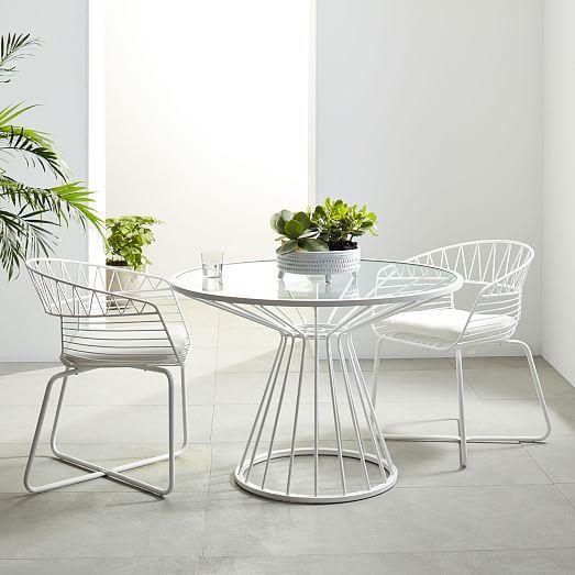 Soleil Metal Outdoor Dining Table Decoracion De Muebles Diseno