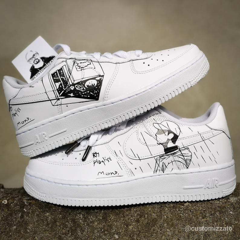 voltaje paraguas Dar  Custom sneakers Nike Air Force 1