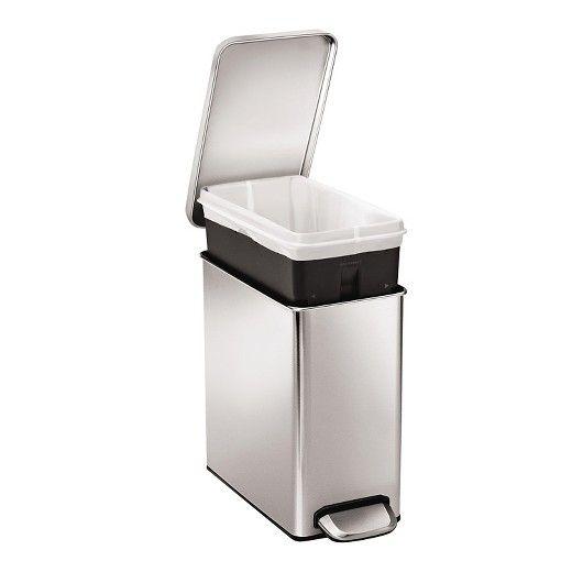 Simplehuman 10 Liter Profile Step Trash Can, Fingerprint ...