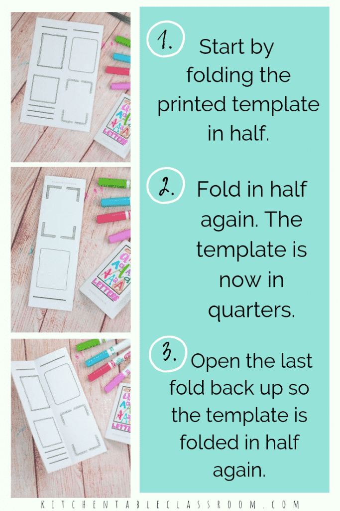 How To Make A Book From A Single Piece Of Paper The Kitchen Table Classroom Book Making Paper Book Book Template