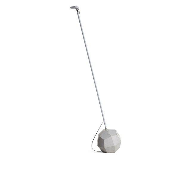 Lámpara fabricada en metal con base en forma de poligono de 24 caras, en acabado blanco. Portalámparas dotado de tecnología Led 3 W 4.4 w blanco calido. Interruptor-dimmer en el cabezal de la lámpara.  DESCATALOGADA   Referencias Miyake 110 PIE - Moooi: MOLMIY110 - Miyake Floor Lamp Blanco