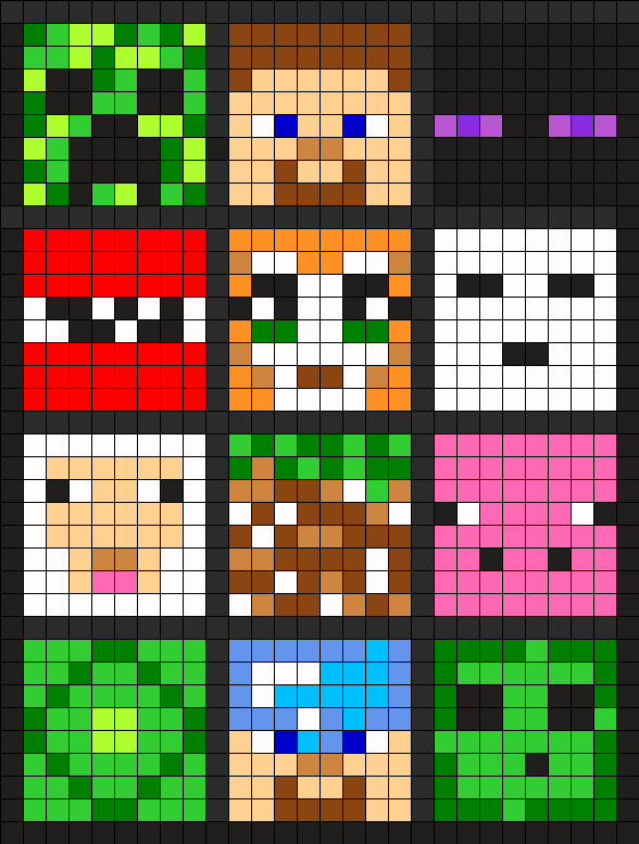 6 of these little Minecraft squares stitched on plastic canvas would ...
