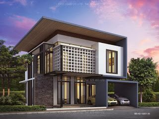 Three Story Home Plans, Modern Style, Living area 155 sq.m, Home ...