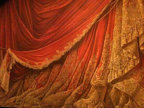 Palais Garnier Opera House Paris Painted Safety Curtain Have Seen Three Ballets There Always The Theatre Curtains Stage Curtains Vintage Theatre