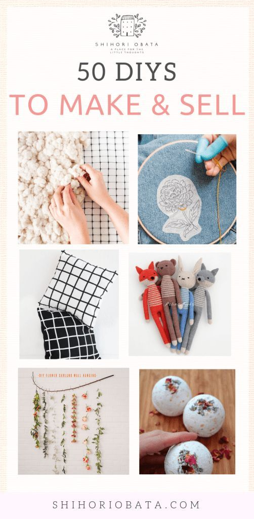 50 Irresistible Craft Ideas to Make and Sell -   19 diy projects Creative cool ideas