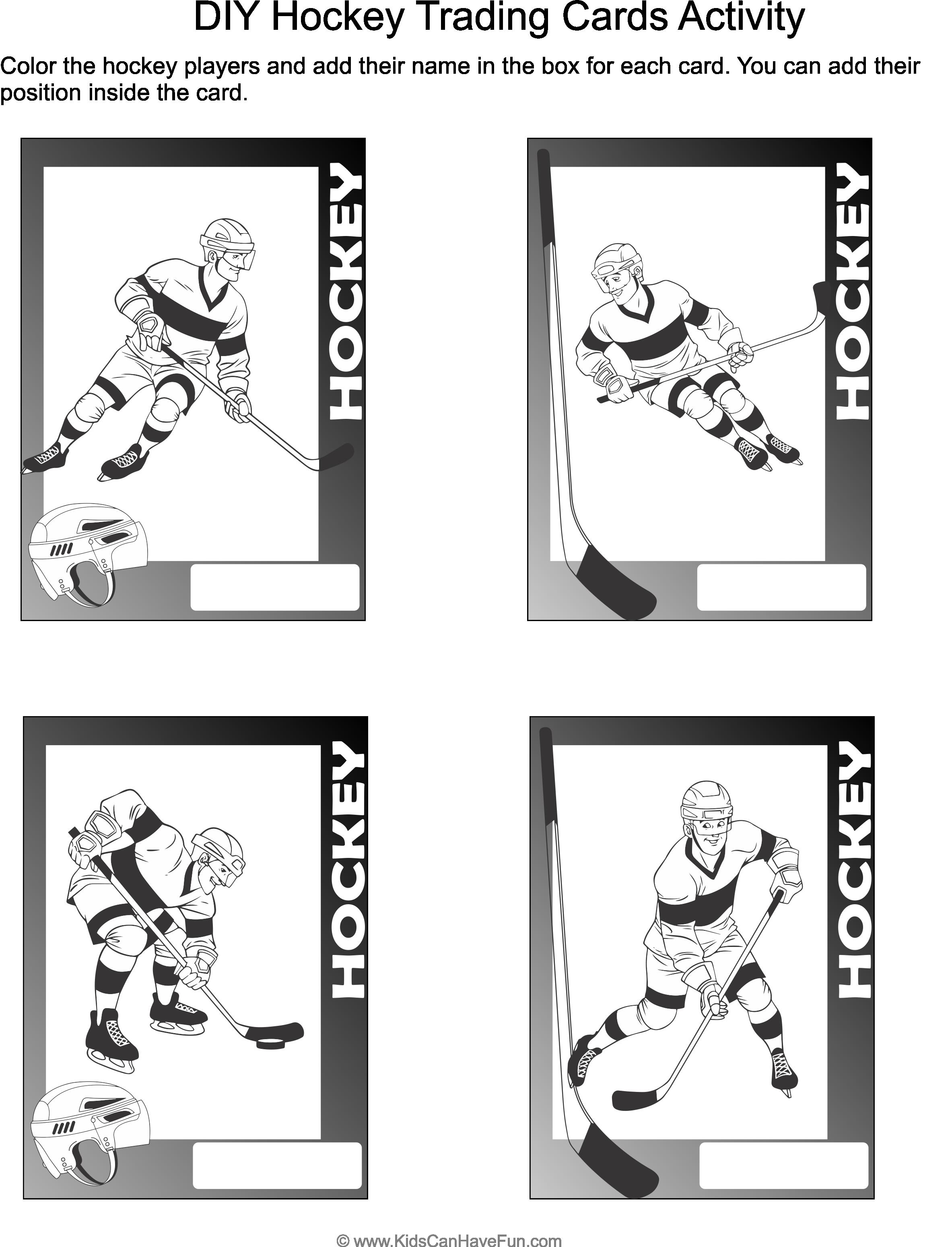 Hockey Trading Cards Activity In