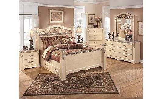 Sanibel Poster Bedroom By Ashley Furniture Storage Bed Captain S