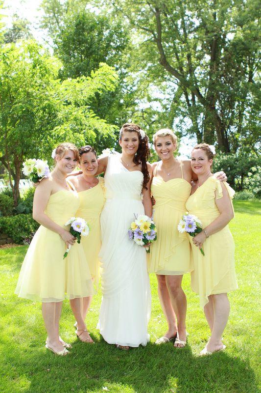 Yellow Wedding Bridesmaid Dresses
