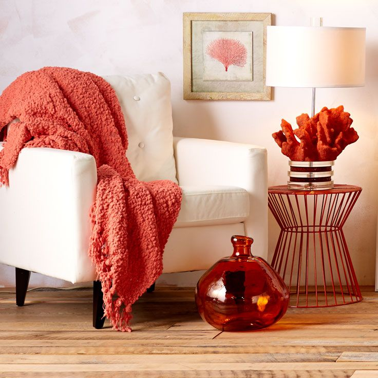 Infuse coral into your beach home.