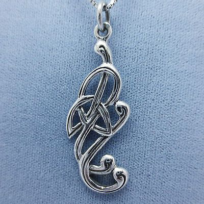 Celtic knot crane pendant necklace sterling silver celtic celtic knot crane pendant necklace sterling silver mozeypictures Choice Image