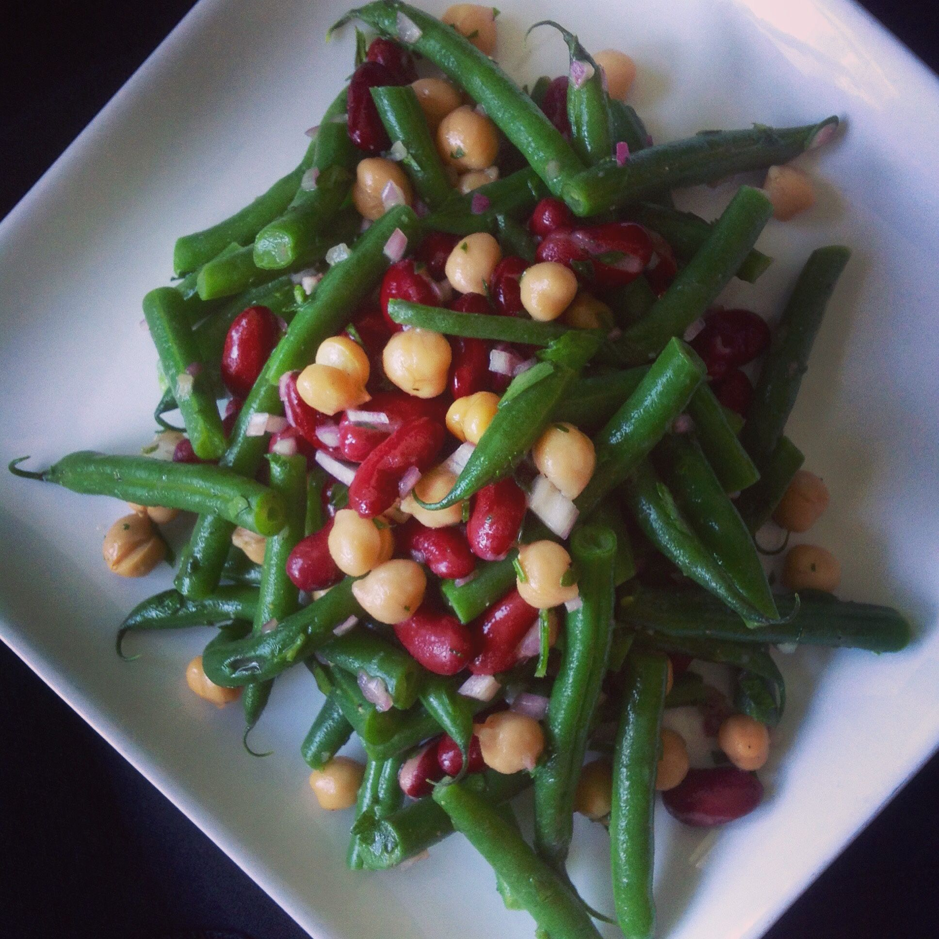 Italian Three Bean Salad With Images Three Bean Salad Bean Salad Bean Salad Healthy