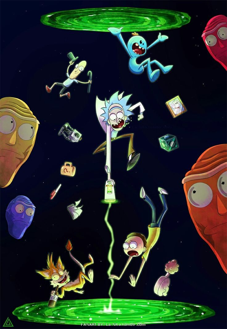 Rick And Morty Wallpaper Iphone | Visual Therapy | Rick y morty, Series, Caricaturas