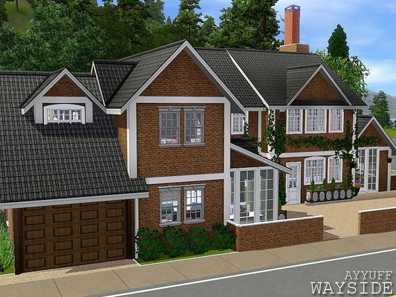 Ayyuff S Wayside Furnished Sims House Sims House Plans Sims House Design