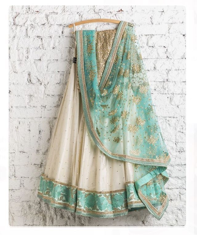 Green Net Lehenga Choli Chunri Designer Lengha Ghagra Ethnic Sari Saree indian