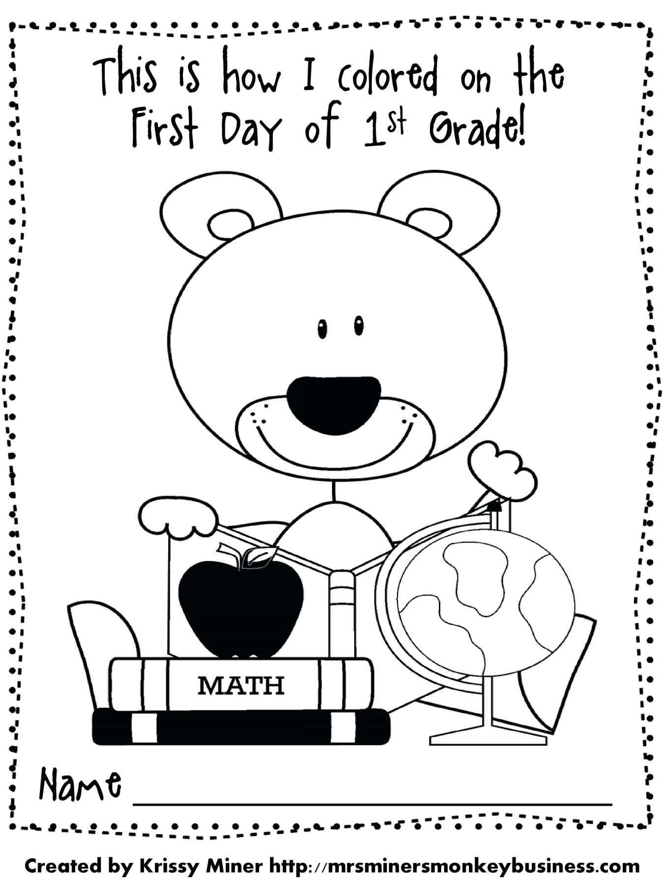 10 First Day Of School Worksheet Kindergarten