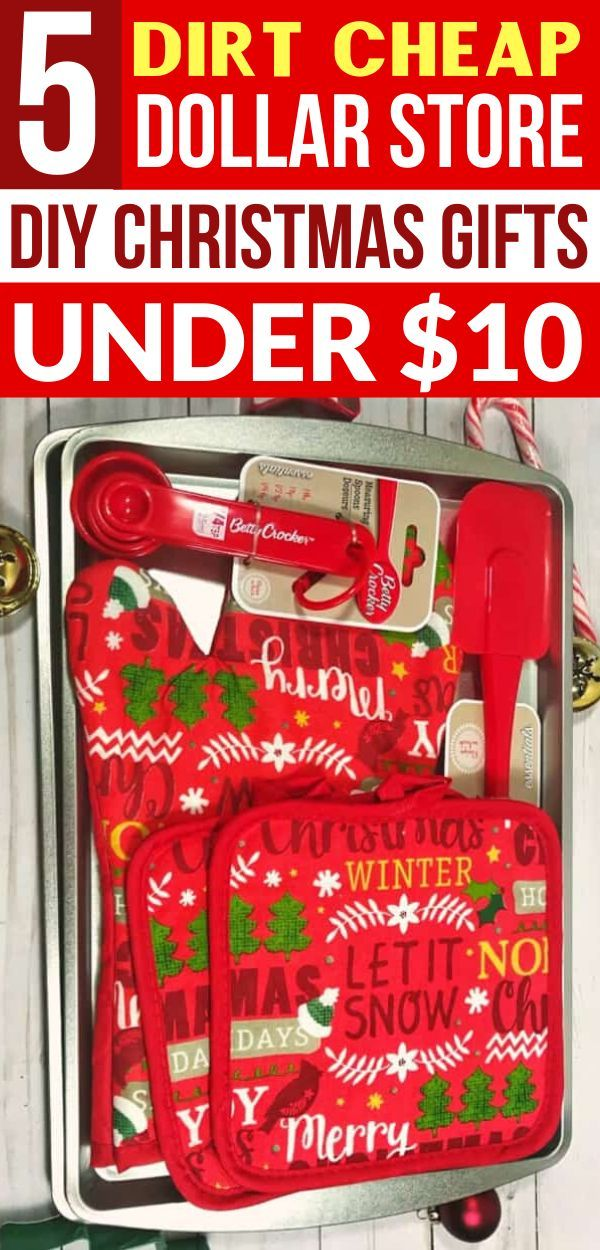 5 Crazy Cheap Christmas Gift Baskets From the Dollar Store Under $10 #cheapgiftideas