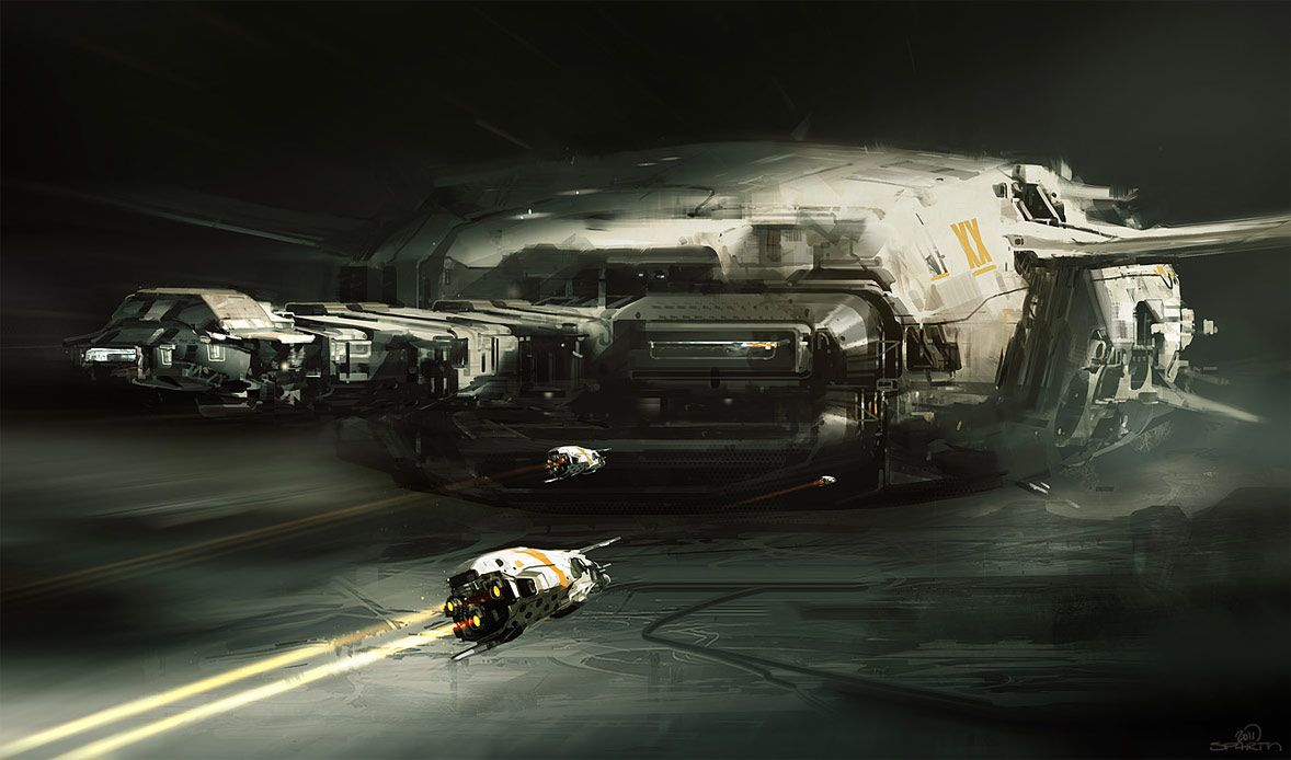concept ships: Concept spaceship art by Nicolas Bouvier