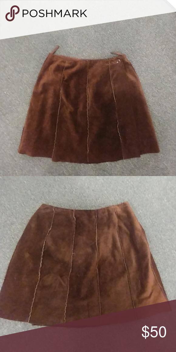 de92ee0d32 Skirt Suede skirt Banana Republic Skirts Midi | My Posh Closet ...