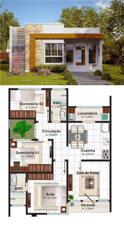 Pin de raymundo en planos de la casa en 2019 casas for Planos casas pequenas modernas