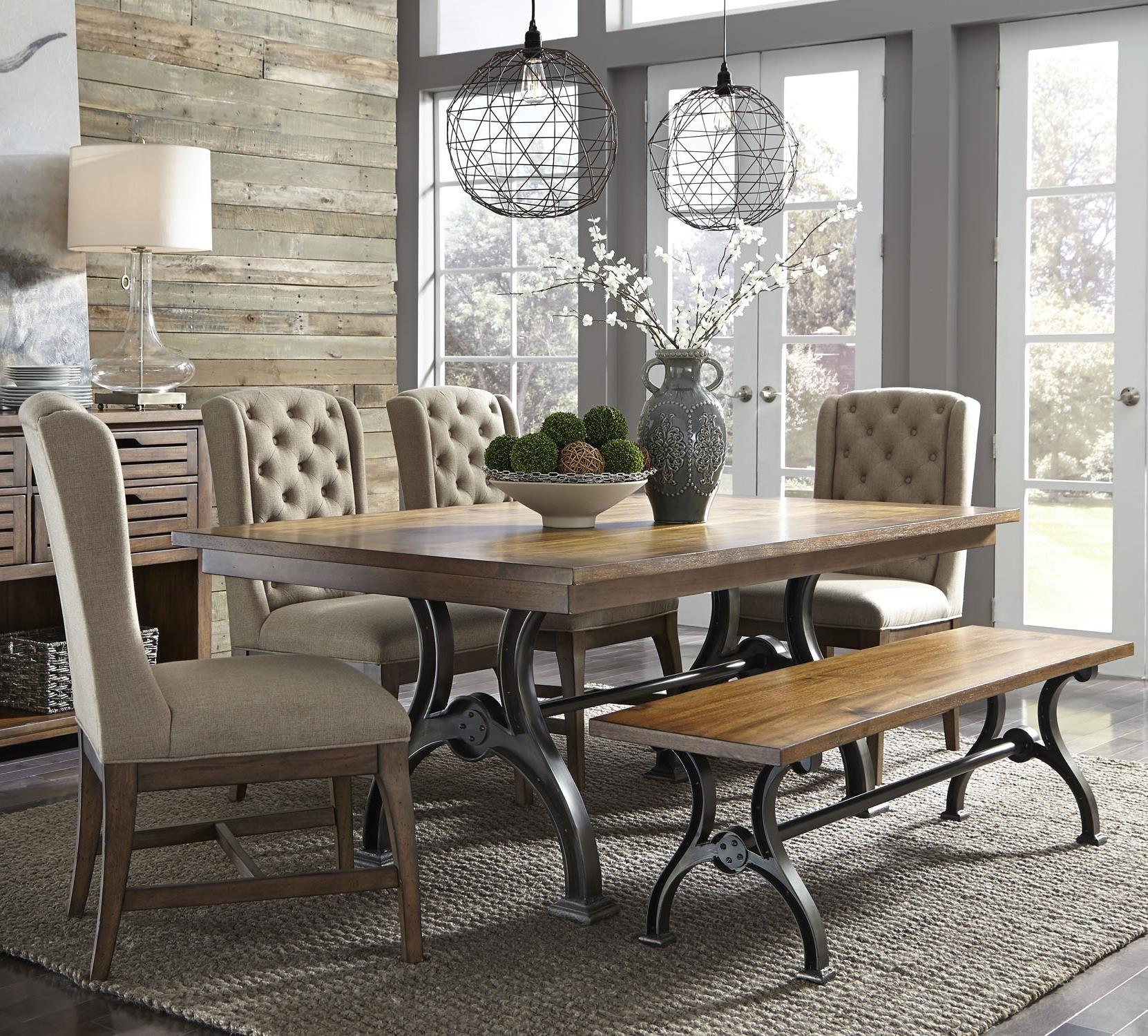 Liberty Furniture Arlington 6 Piece Trestle Table Set With