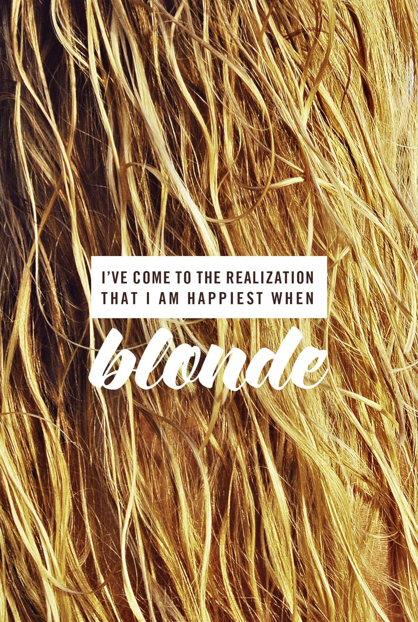 Fall Hair Quotes : quotes, Happy, Shade., Is..., Goldfish, Blonde, Quotes,