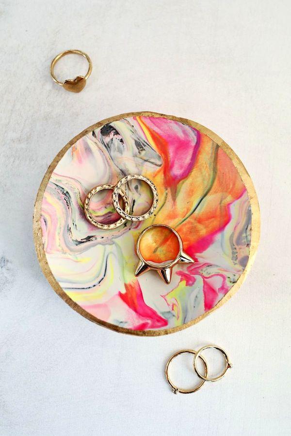 Mother/'s Day gift idea Fancy handmade Fimo earrings