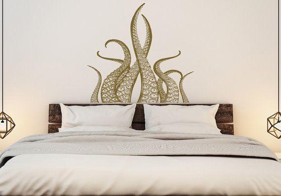 Octopus Tentacles Wall Decal Kraken Art- Octopus Decal Nautical Decor- Tentaclesu2026 & Octopus Tentacles Wall Decal Kraken Art- Octopus Decal Nautical ...