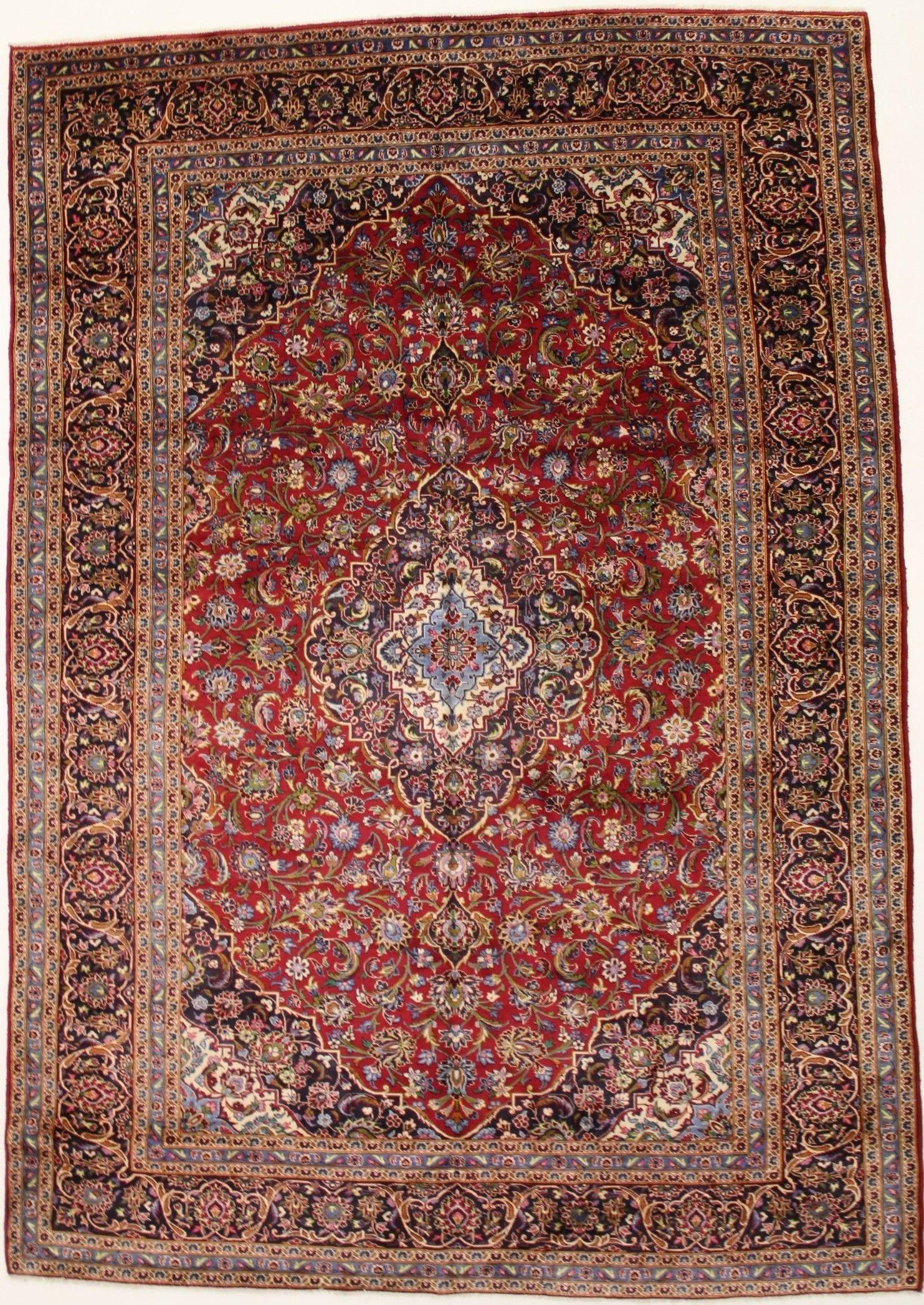 Kashan Persian Rug 10x13 Vintage