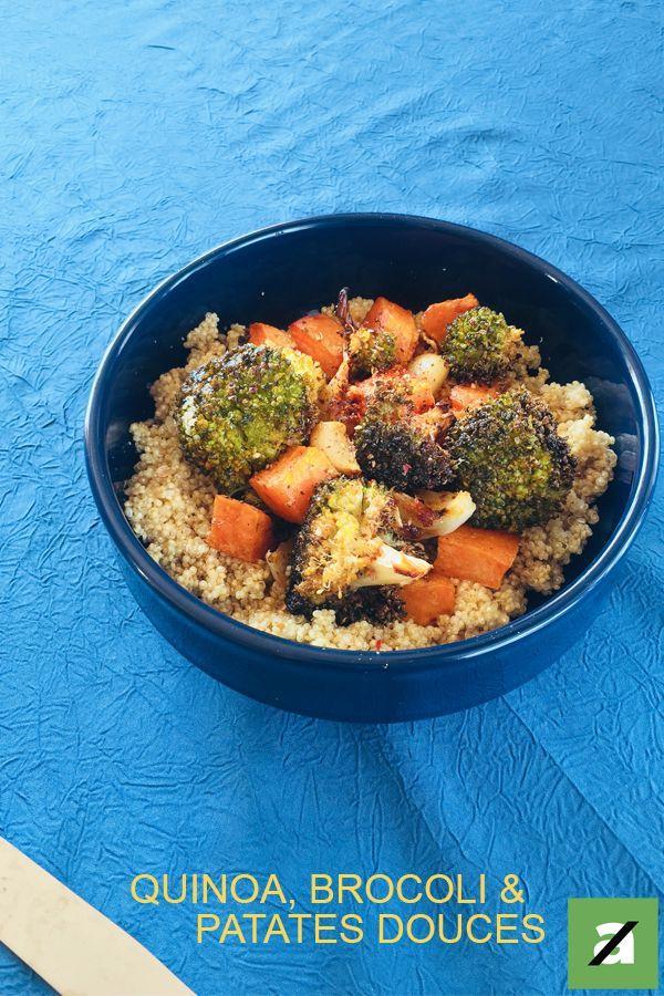 Quinoa, brocolis et patates douces -