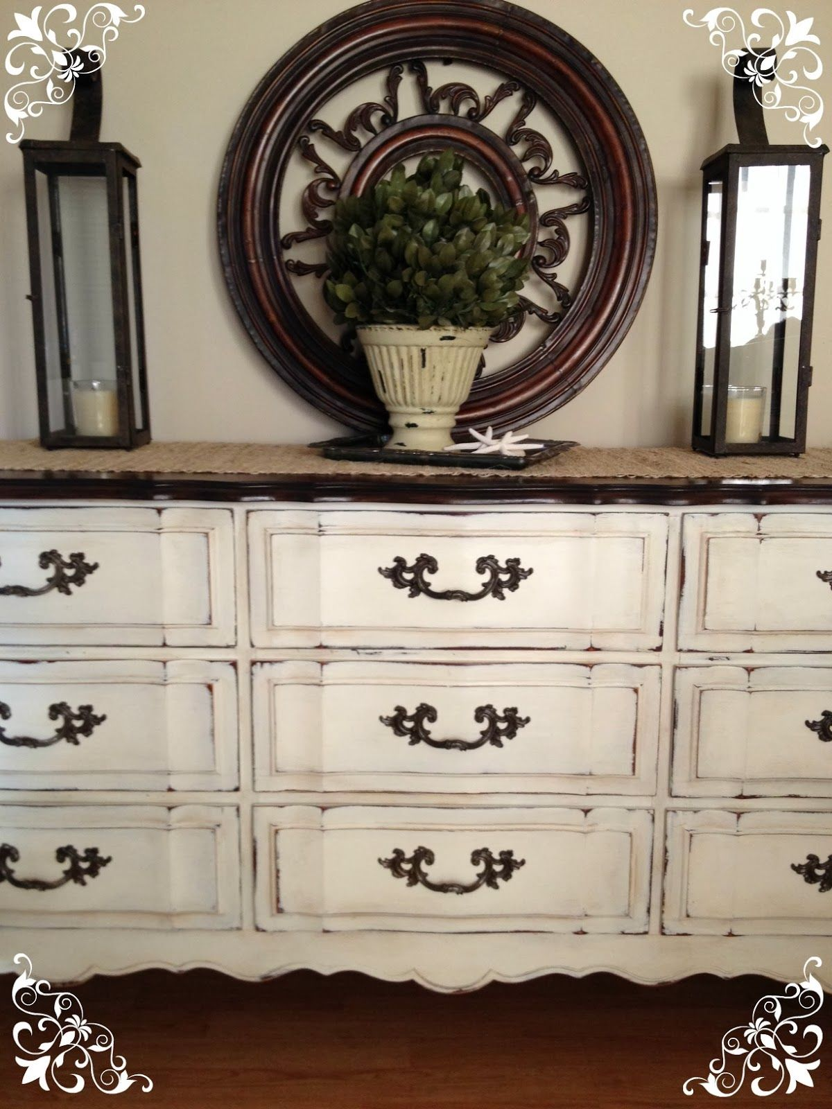 how to antique white furniture. Good Description Of How To With Top Stain/poly And Chalk Paint. Vintage Country Style:Before \u0026 After Dresser Using Annie Sloan Paint! Antique White Furniture