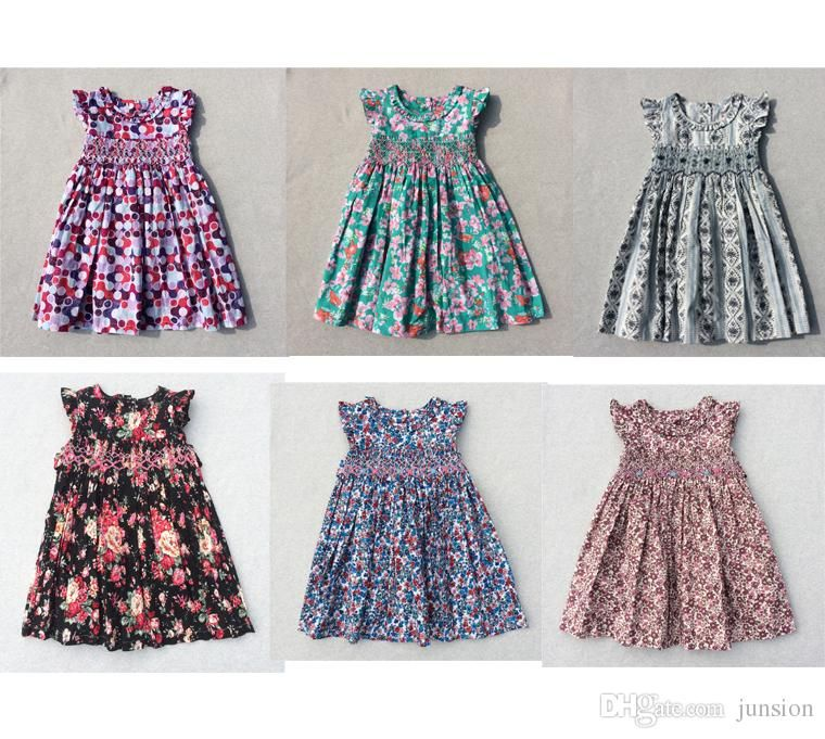 2017 Hot Sale Children Dresses 2017 New Summer Lovely Baby Girls Dresses Casual Party Dresses Bohemian Princess For 3 7 Years Kids Dress From Junsion, $7.39 | Dhgate.Com