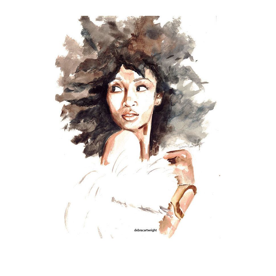 Delicate Watercolors Combat Oversimplified Strong Black Woman