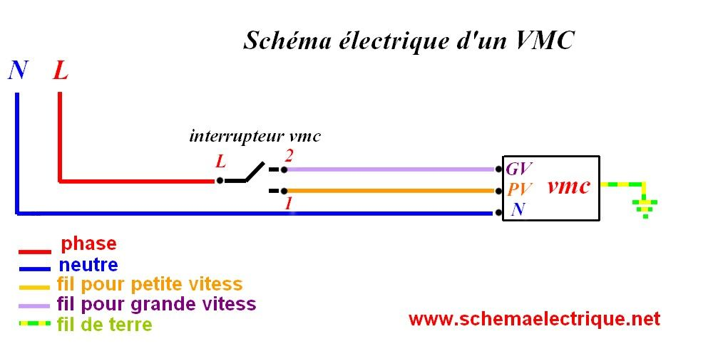 schema electrique vmc esquemas Pinterest - Plan Electrique Salle De Bain