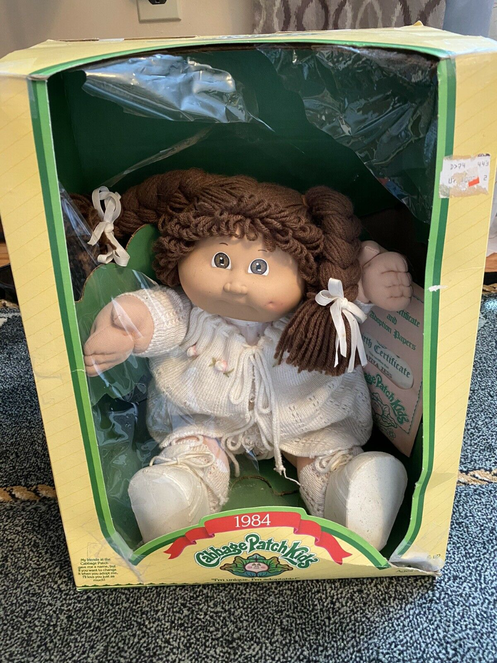 1984 Cabbage Patch Kids Doll Coleco With Birth Certificate Original Box Aviva Tess Cabbage Patch Babies Cabbage Patch Dolls Cabbage Patch Kids Dolls