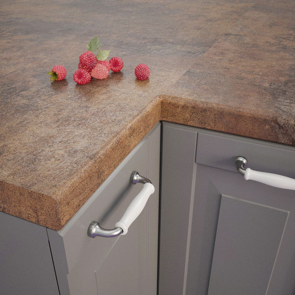 Getalit Campino Patina H 317 Ce Bullnosed Breakfast Bar 4100mm X 900mm X 39mm Getalit Worktops Instantly Transform The Appearance Of A Campino Patina Kuche