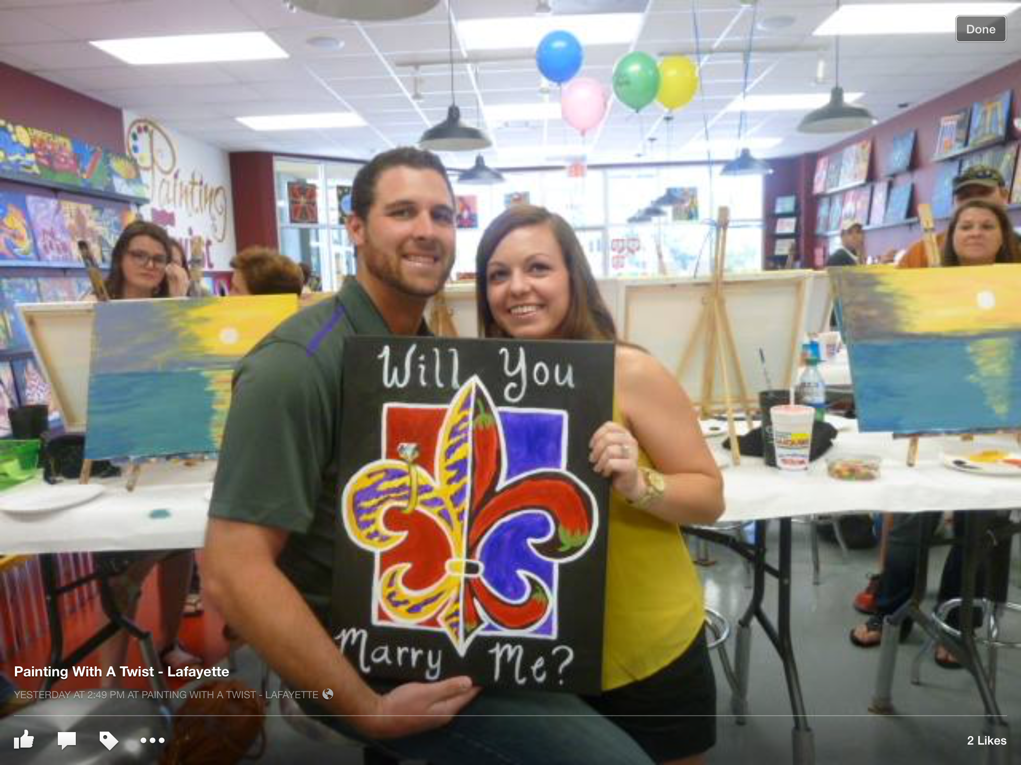 Love Is In The Air Painting With A Twist Lafayette La Pwat