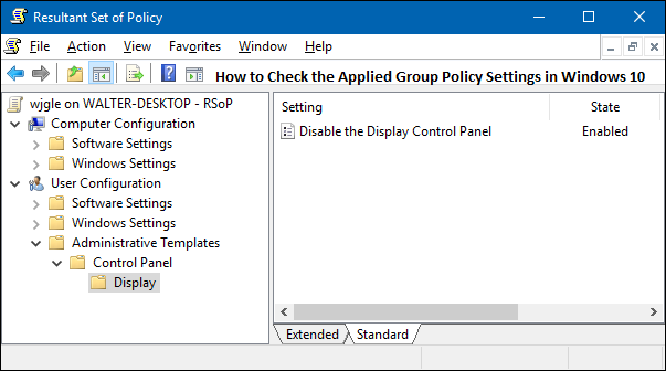 How To Check The Applied Group Policy Settings In Windows 10 Group Policy Policies Office Setup