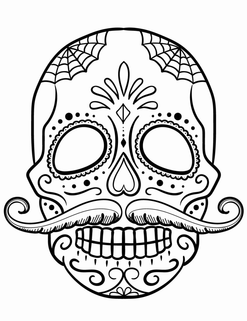 Sugar Skull Coloring Books Fresh Coloring Pages Sugar Skull Girl Coloring Pages Printable Halloweencol In 2020 Skull Coloring Pages Sugar Skull Drawing Coloring Pages
