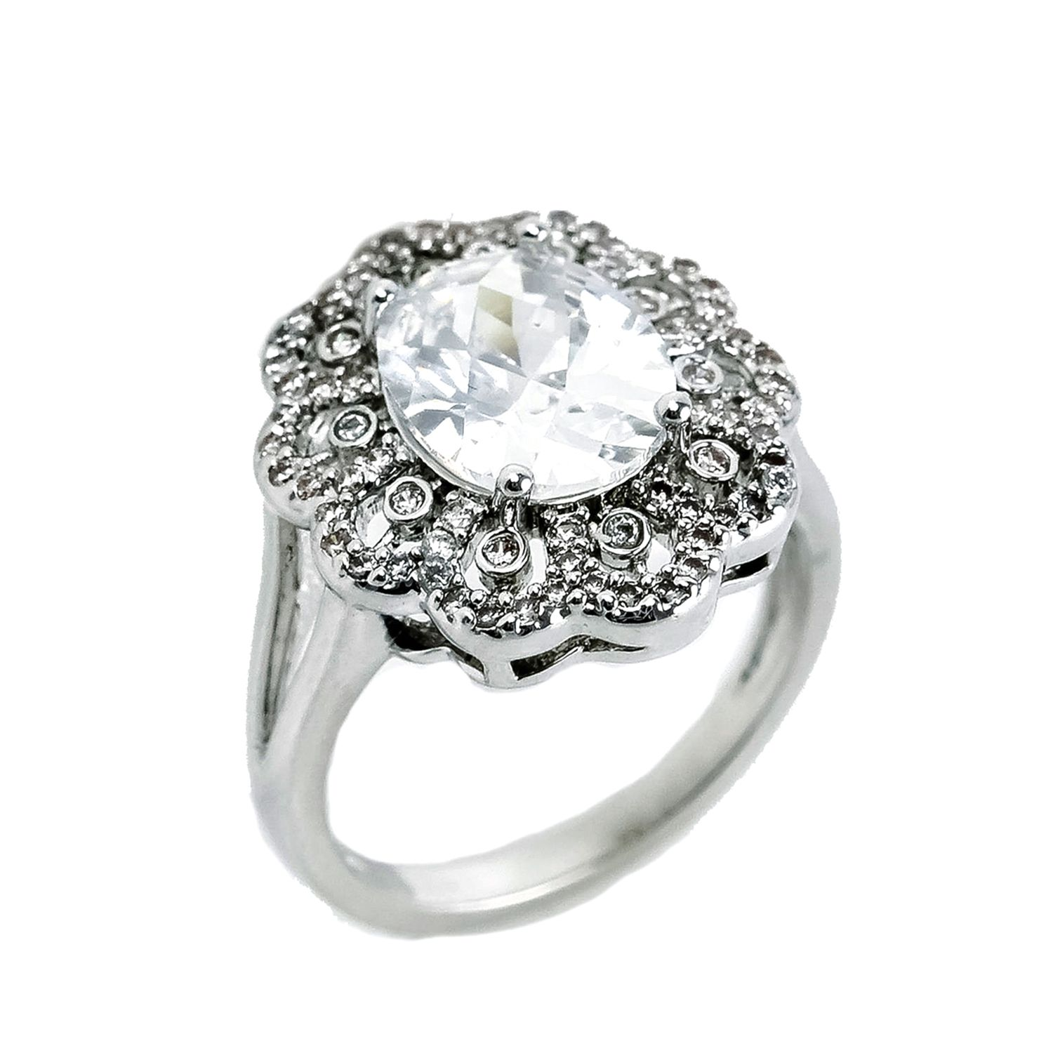 CZ cocktail ring. Sizes 59. Item r2648 Rings