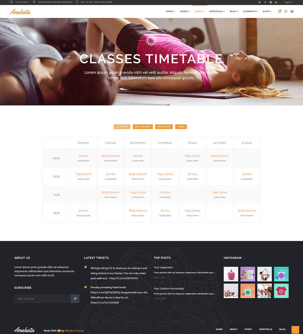 Anahata wordpress theme also comes with the premium