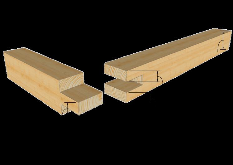 Zimmermannsm ige holzverbindung scherzapfen tischlerei for Holzverbindungen fachwerk