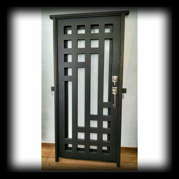 Pin by yudith balza on puertas pinterest doors grill - Puertas de metal para casas ...