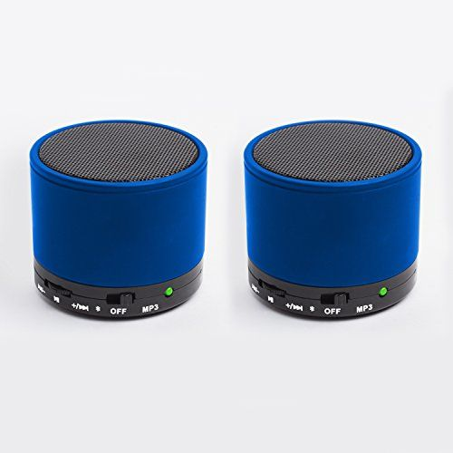 2 Pack Portable Mini Bluetooth Speaker Blue Read More Reviews Of The Product By Visiting Bluetooth Speaker Set Bluetooth Speakers Portable Bluetooth Speaker