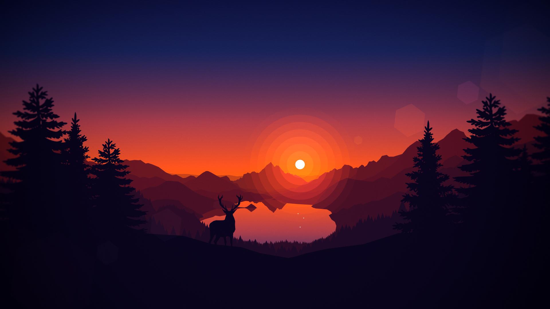 Sunrise [1920x1080] Área de trabalho, Desenhos