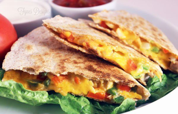 Easy Cheesy Chicken Quesadillas images
