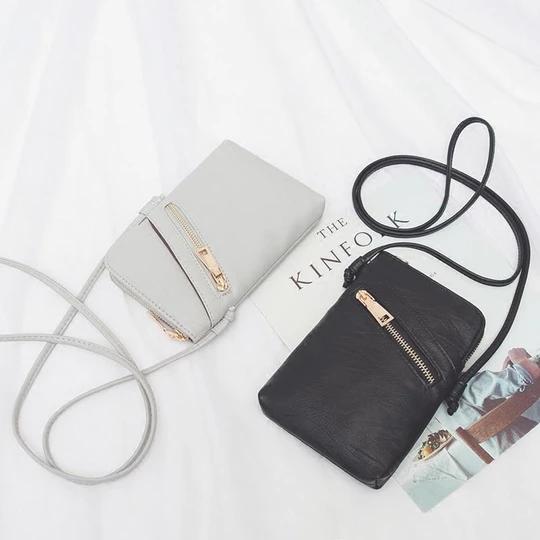 Mini bolsos simples Bolsa Femininas Bolso bandolera de cuero PU para mujerintothea