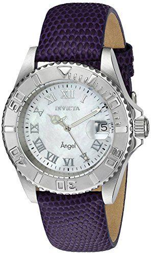 Invicta Women's 18399 Angel Analog Display Swiss Quartz Purple Watch